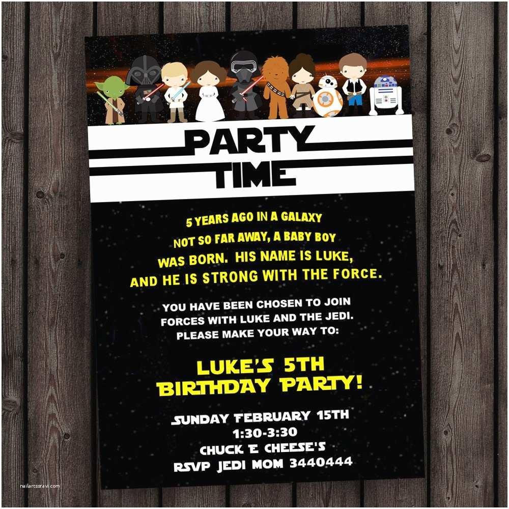 Star Wars Birthday Party Invitations Star Wars Invitation the force Awakens Invitation Star Wars