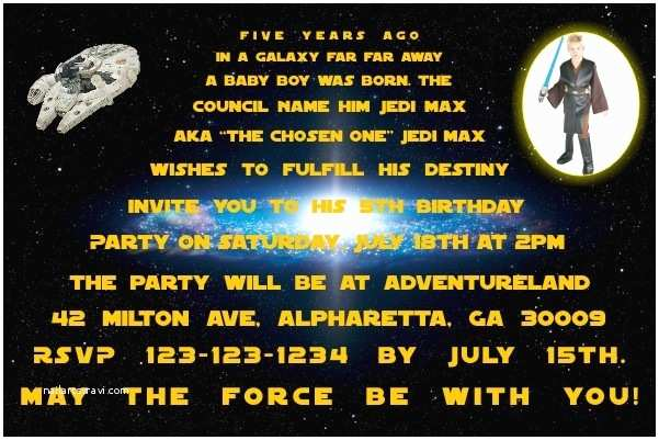 Star Wars Birthday Party Invitations Star Wars Invitations Personalized Party Invites