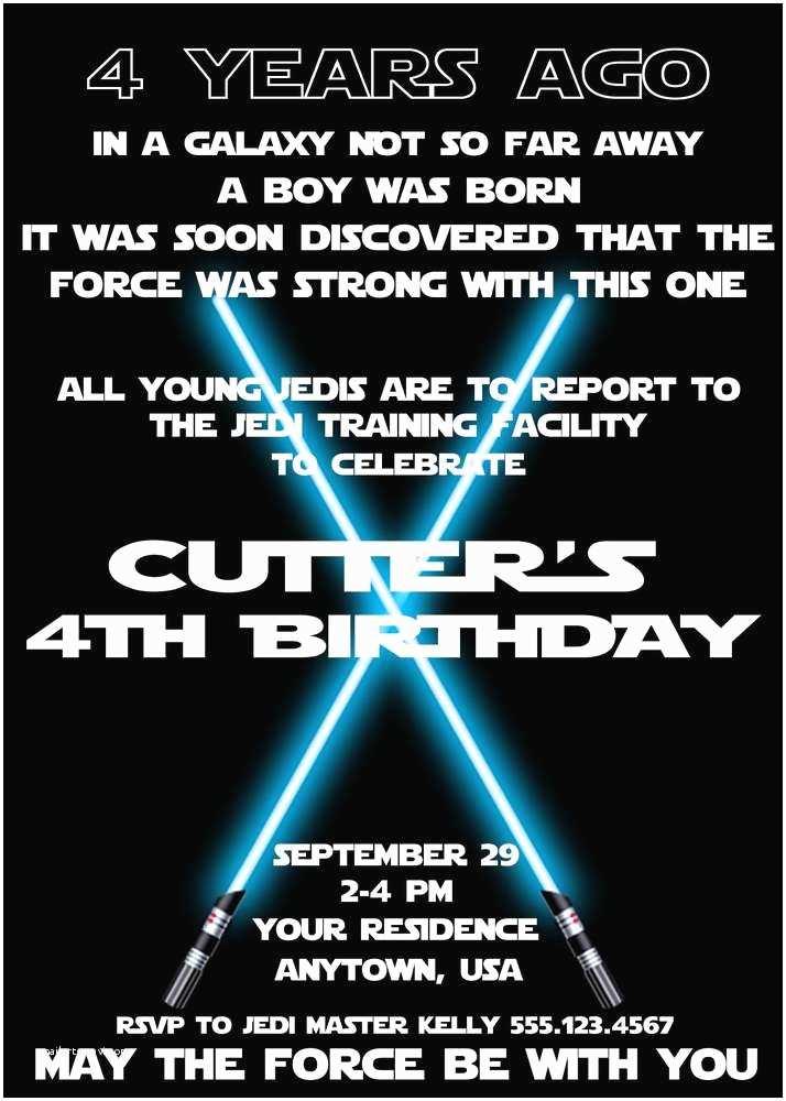 Star Wars Birthday Party Invitations Star Wars Jedi Training Academy Birthday Party Ideas