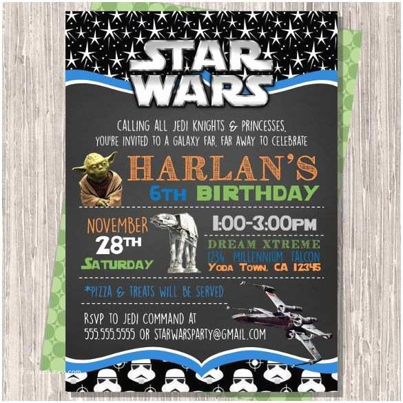Star Wars Party Invitations 20 Star Wars Birthday Invitation Templates – Free Sample