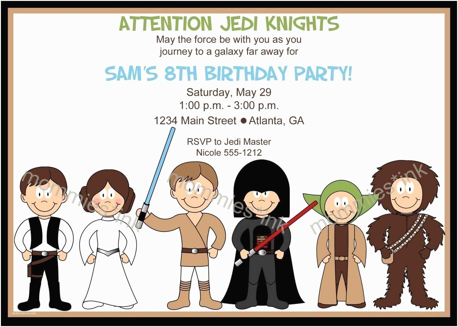 image relating to Star Wars Invitations Free Printable referred to as Star Wars Social gathering Invites 7 Suitable Of Totally free Printable Star