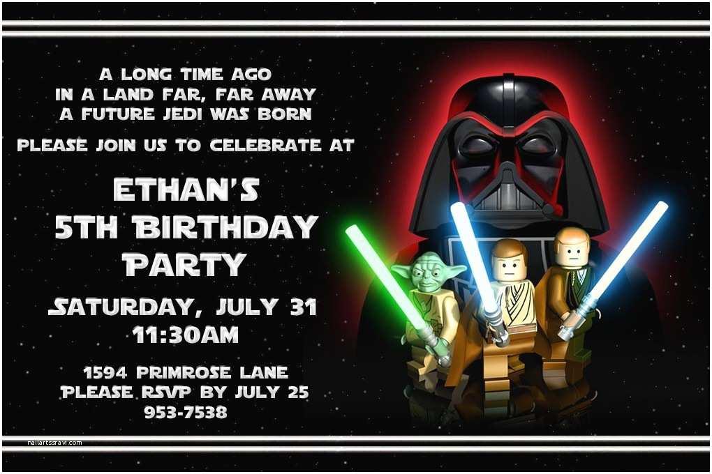 Star Wars Party Invitations Free Printable Lego Birthday