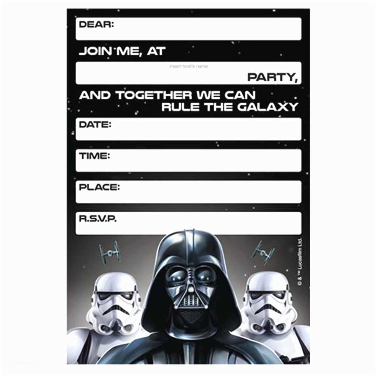 Star Wars Party Invitations Lego Star Wars Birthday Invitations Template – Bagvania