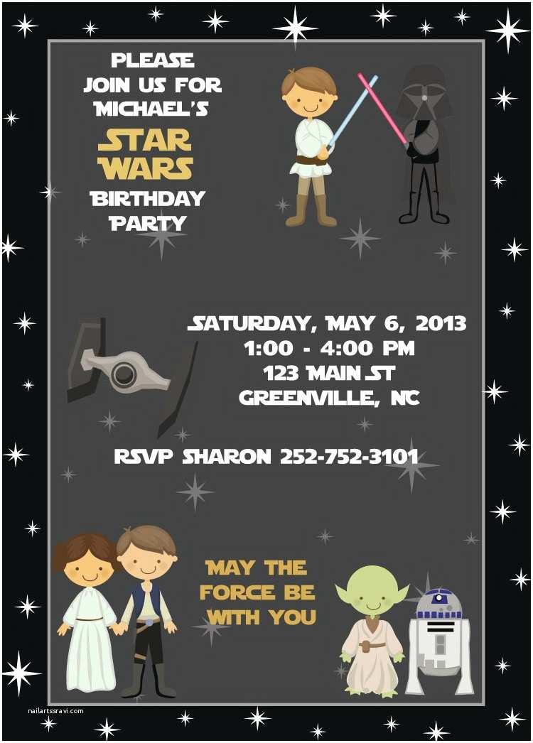 Star Wars Party Invitations Star Wars Birthday Invitation Kids Birthday Party