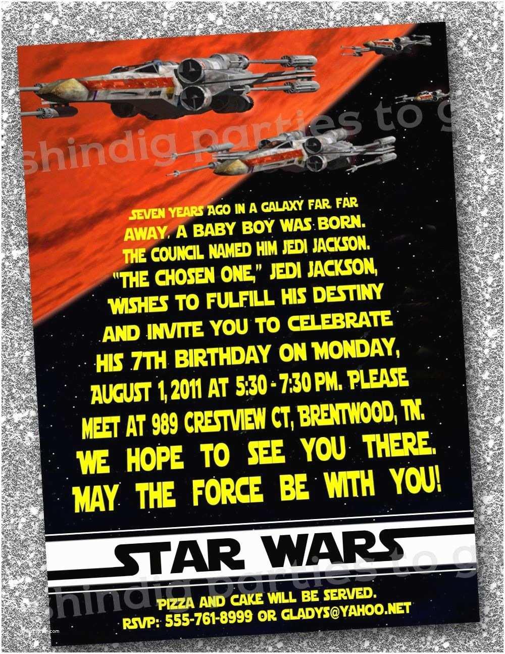 Star Wars Party Invitations Star Wars Birthday Invitations Templates Free