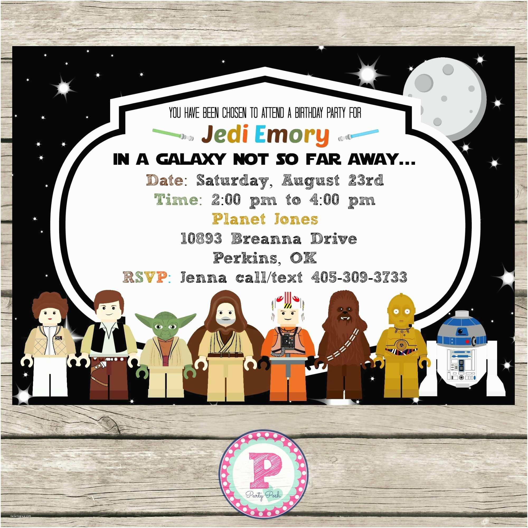 Star Wars Party Invitations Star Wars Lego Birthday Party Ideas Invitations