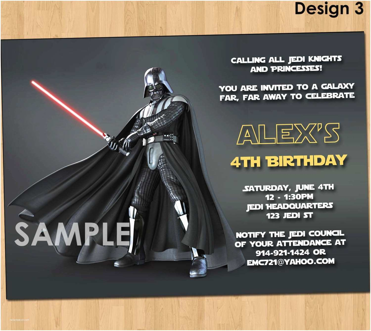 Star Wars Party Invitations Star Wars Party Invitations