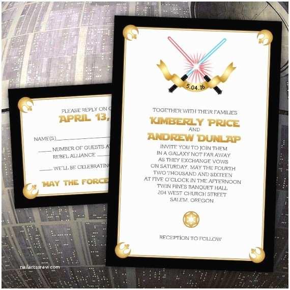 Star Wars themed Wedding Invitations 10 Galaxy Inspired Star Wars Wedding Invitations