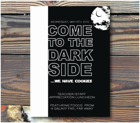Star Wars themed Wedding Invitations Party Invitations E to the Dark Side Star Wars