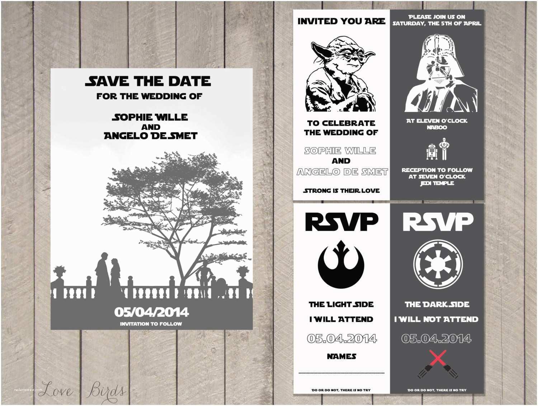 Star Wars themed Wedding Invitations Staggering Star Wars Wedding Invitations