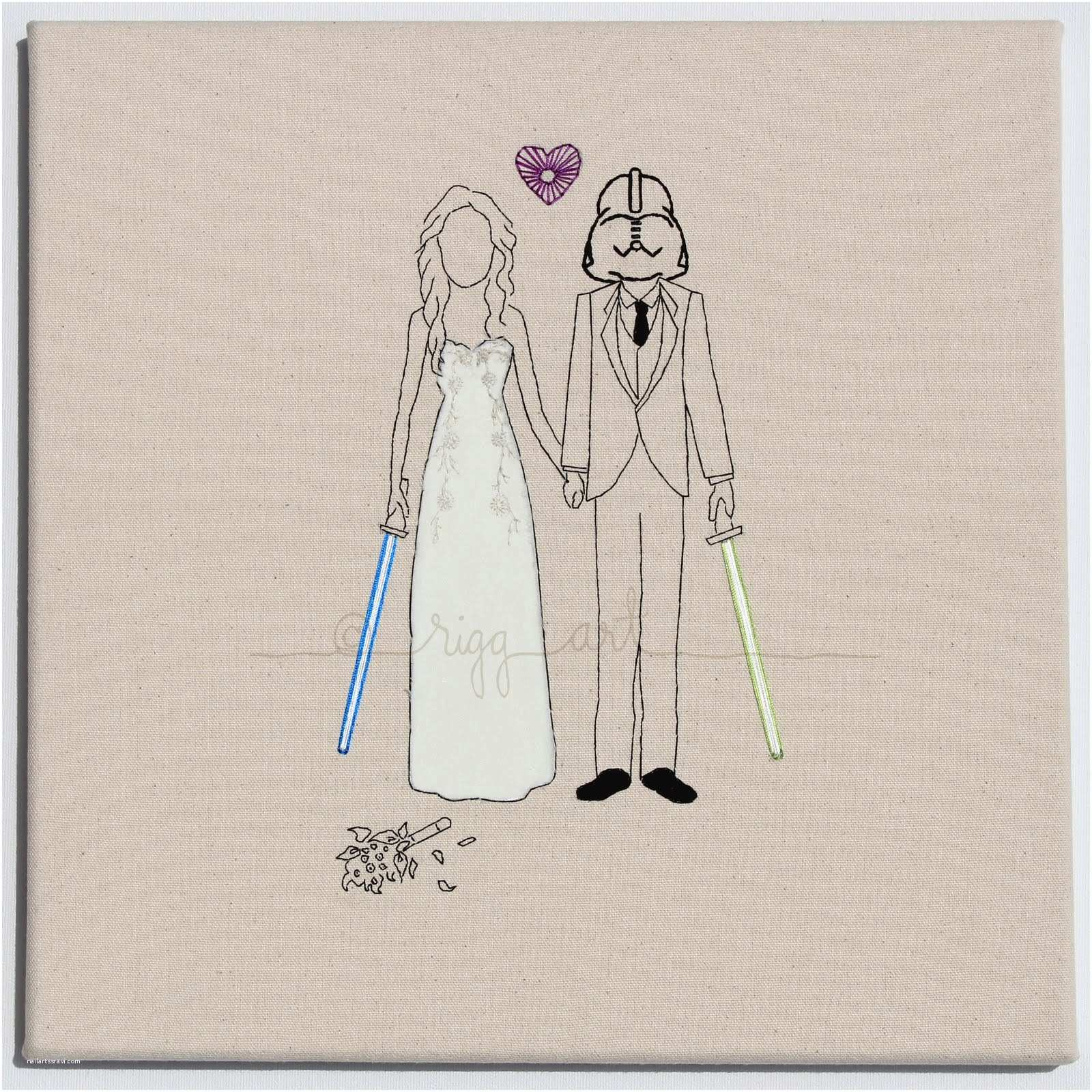 Star Wars themed Wedding Invitations Star Wars Bride Groom Wedding Portrait