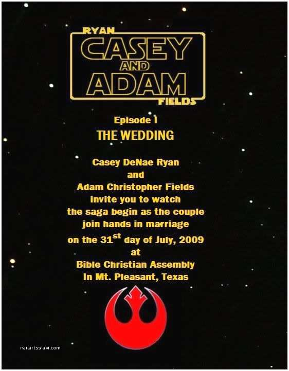 Star Wars themed Wedding Invitations Star Wars Wedding Invitations I Would totally Be the
