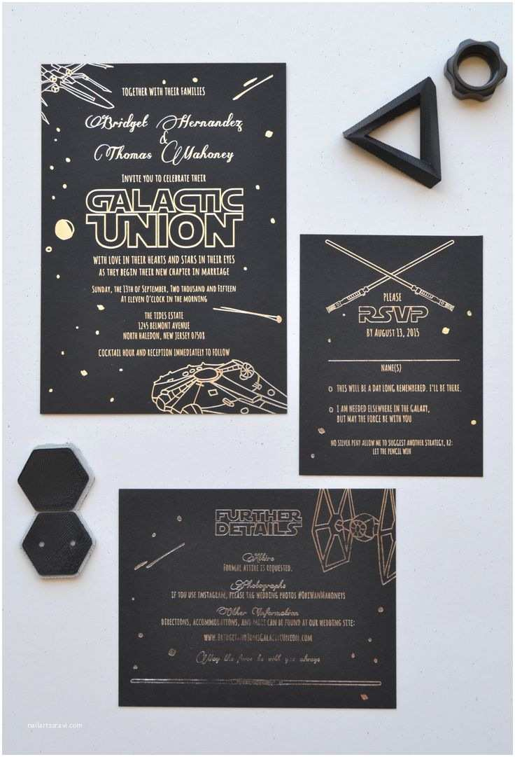 Star Wars Wedding Invitations There Is No Escape Star Wars Themed