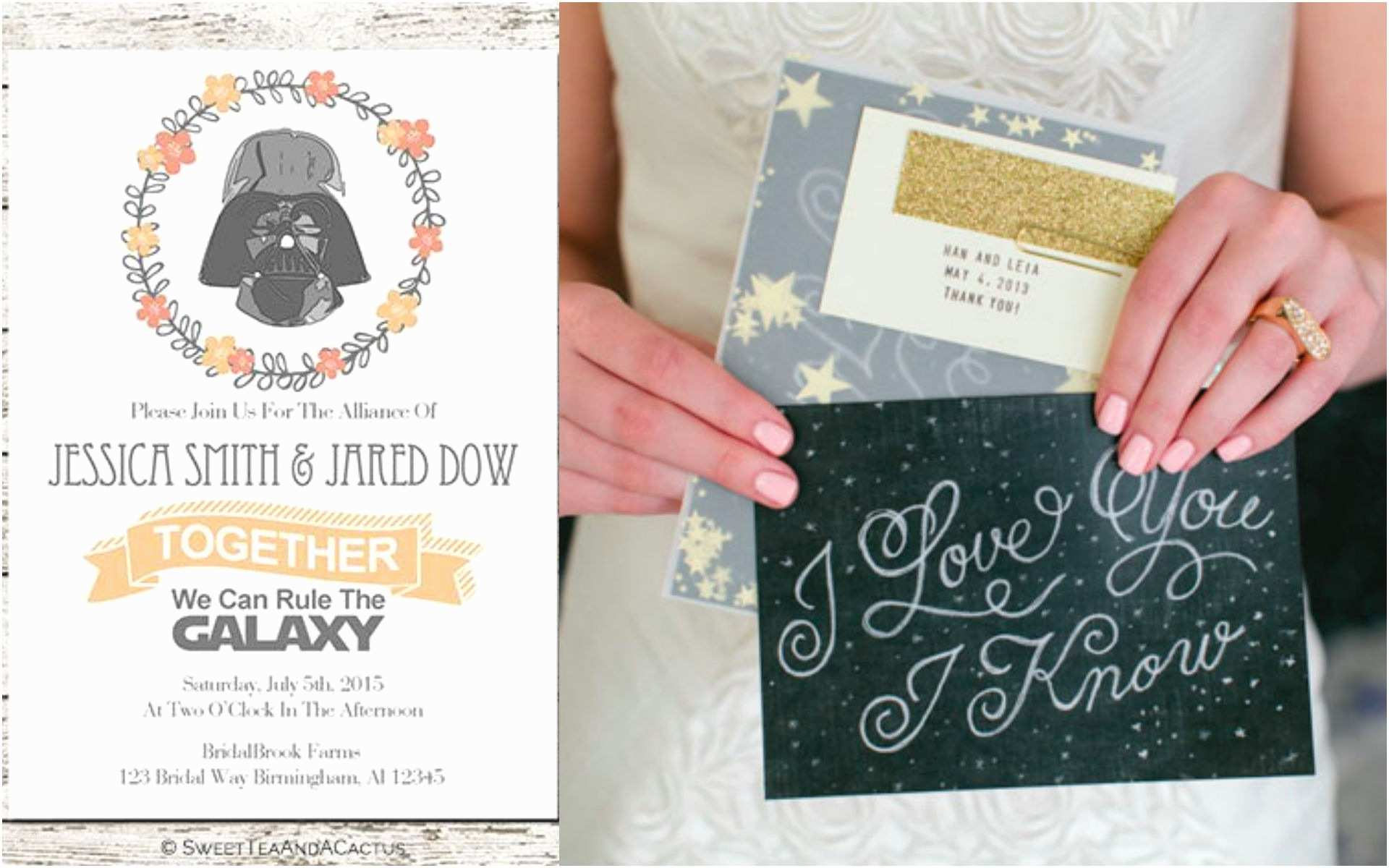 Star Wars Wedding Invitations Star Wars Wedding Ideas