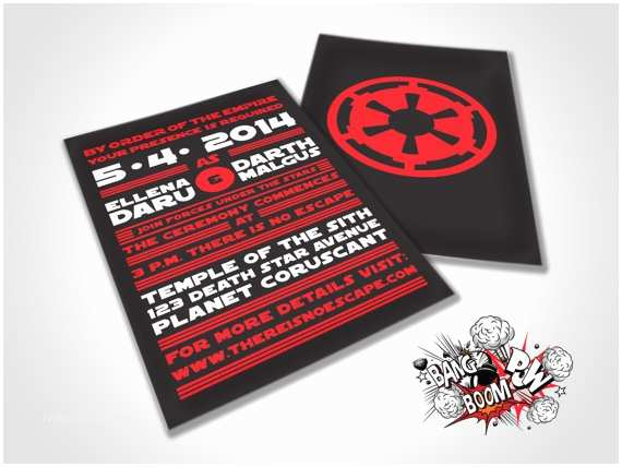 Star Wars Wedding Invitations there is No Escape Star Wars themed Wedding by