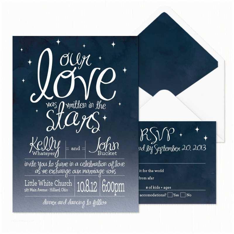 Star Wedding Invitations In the Stars Wedding Invitation Printable
