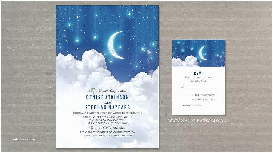 Star Wedding Invitations Read More – Stars and Moon Wedding Invitation
