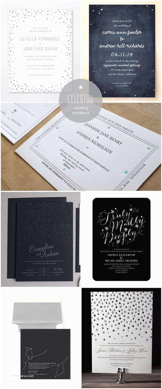 Star Wedding Invitations Star Constellations Constellations and Invitation Ideas