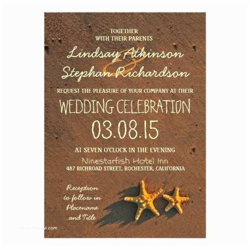 Starfish Wedding Invitations Beach Wedding Starfish Invitations