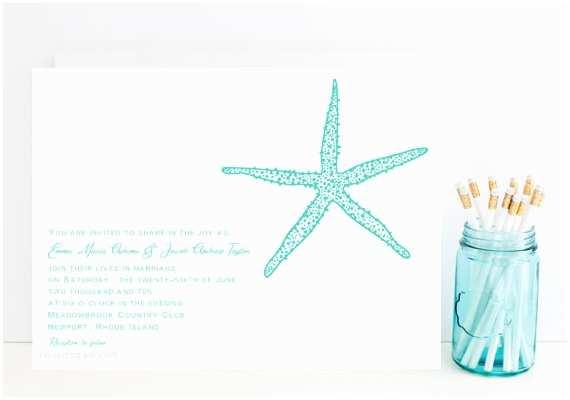 Starfish Wedding Invitations Items Similar to Starfish Wedding Invitation Ocean