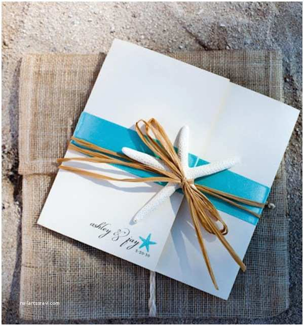 Starfish Wedding Invitations Seal and Send Beach Wedding Invitations to Set the tone