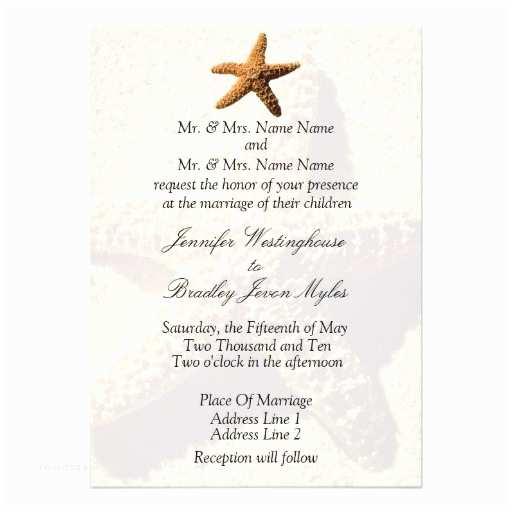Starfish Wedding Invitations Starfish Tropical Wedding Invitations