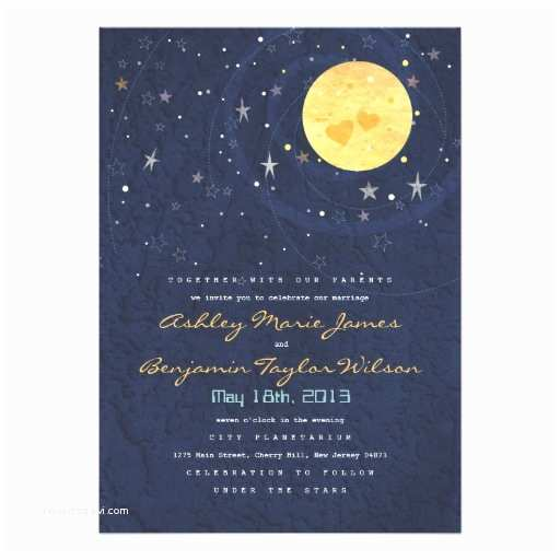 Starry Night Wedding Invitations Personalized Starry Night Invitations