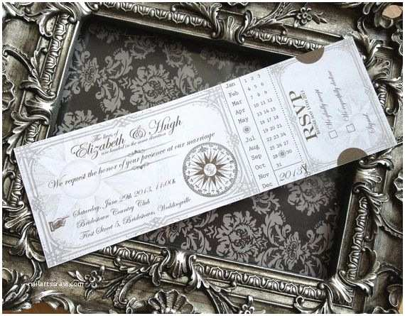 Steampunk Wedding Invitations Custom Printable Steampunk Wedding Invitation by