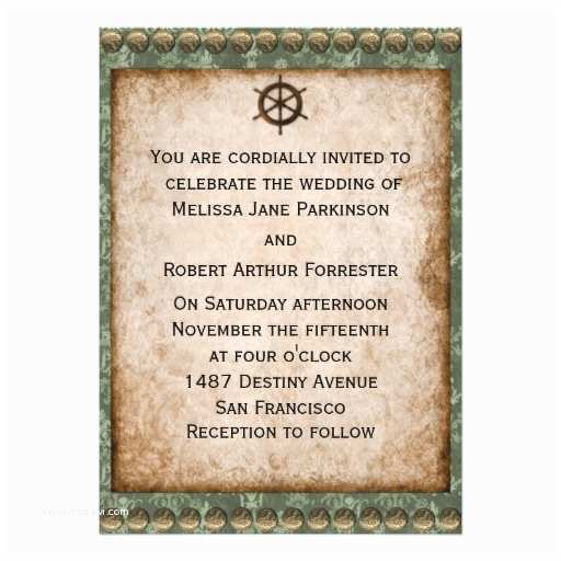 "Steampunk Wedding Invitations Steampunk Wedding Invitation 5"" X 7"" Invitation Card"
