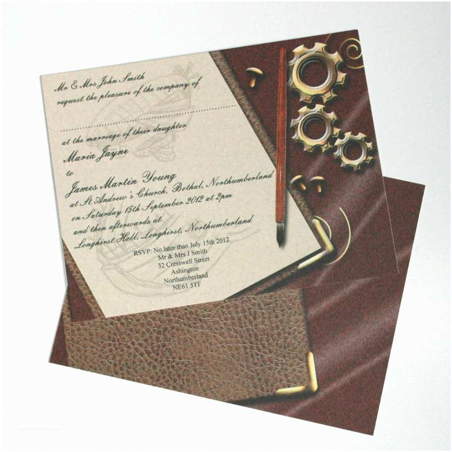 Steampunk Wedding Invitations Steampunk Wedding Invitation by Graphicembers On Deviantart