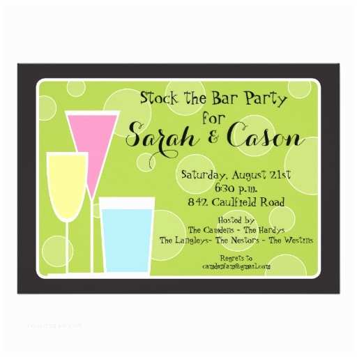 Stock the Bar Party Invitations Cocktail Party Trio Stock the Bar Invitation