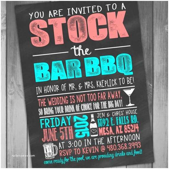 Stock the Bar Party Invitations Stock the Bar Invitation Stock the Bar Party Wedding Bbq I