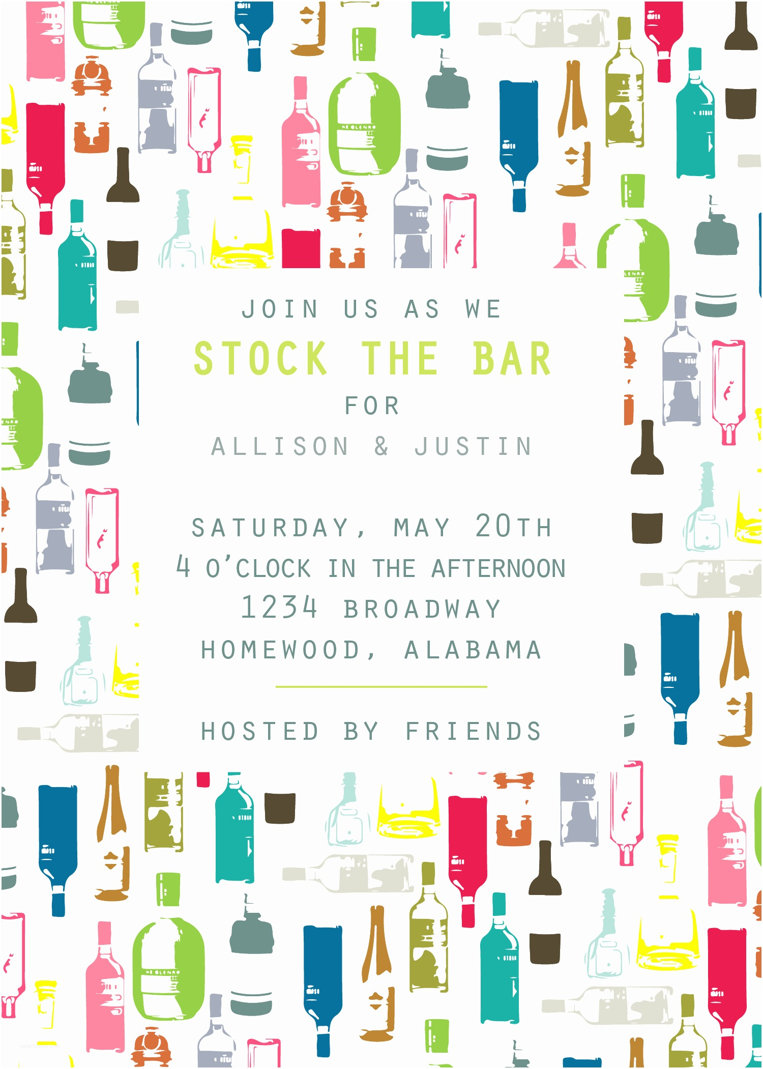 Stock the Bar Party Invitations Stock the Bar Party Invitations