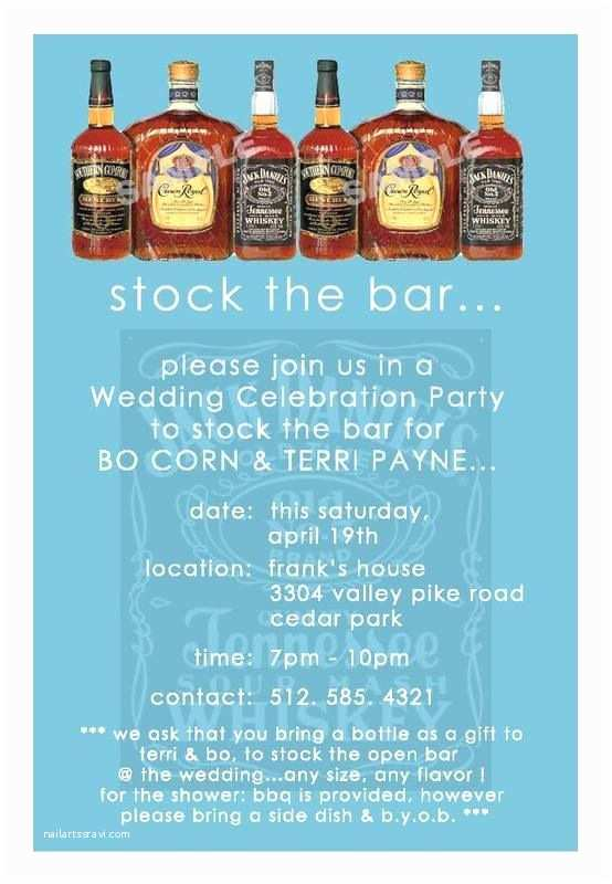 Stock the Bar Party Invitations White and Gold Wedding Groom and Groomsmen Groom's
