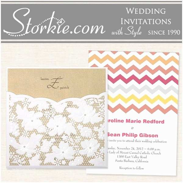 Storkie Wedding Invitations Storkie Express Wedding Invitations north Carolina