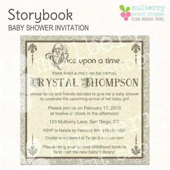 Storybook Baby Shower Invitations 53 Best Images About Baby Shower On Pinterest