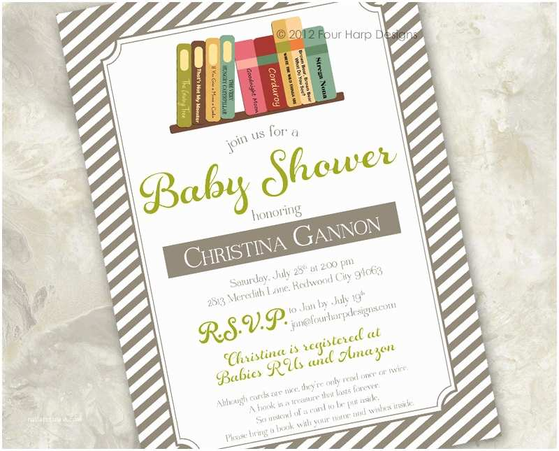 Storybook Baby Shower Invitations Baby Shower Invitation Story Time A by Fourharpdesigns On Etsy
