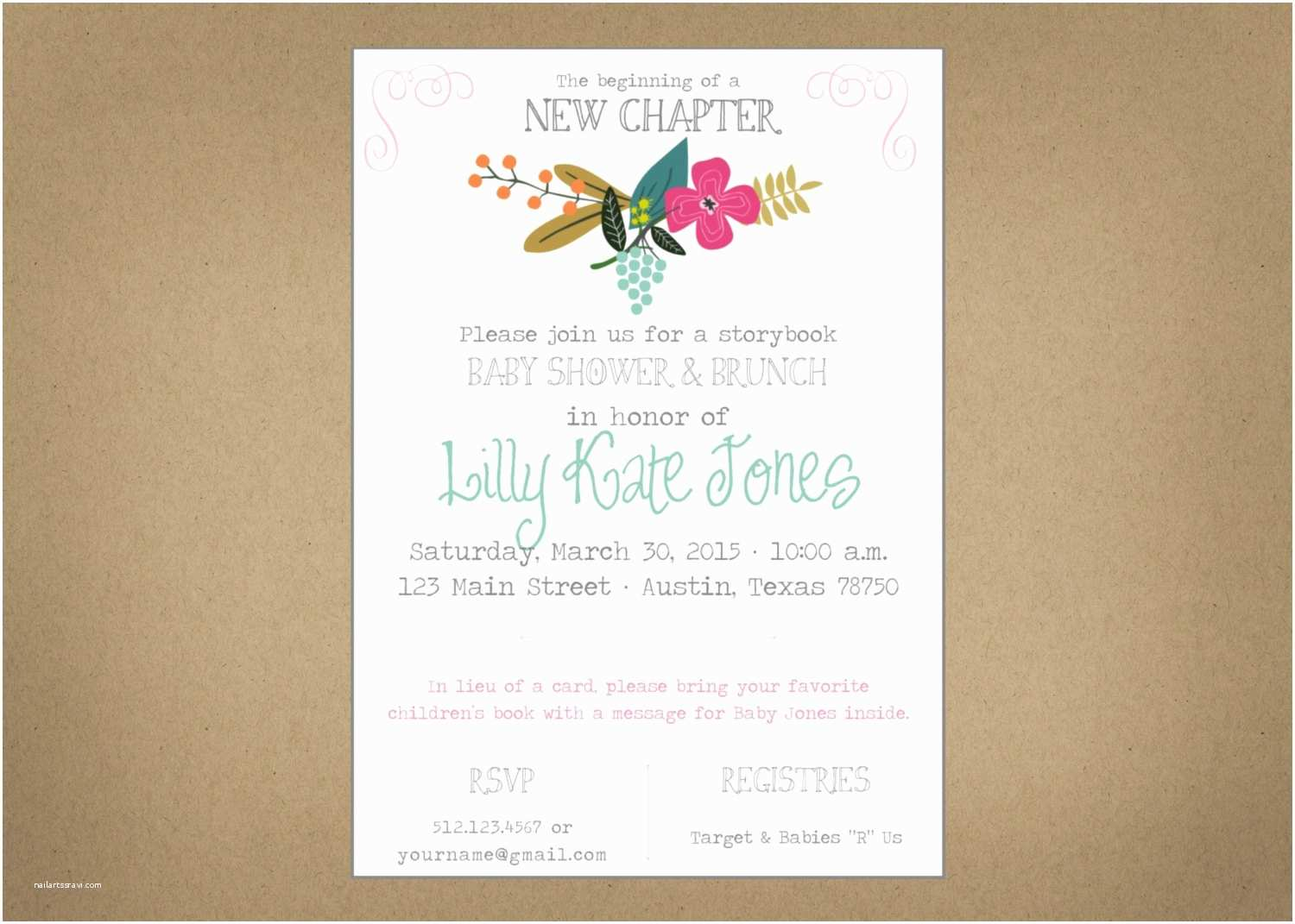 Storybook Baby Shower Invitations Baby Shower Storybook Invitation Customizable Digital
