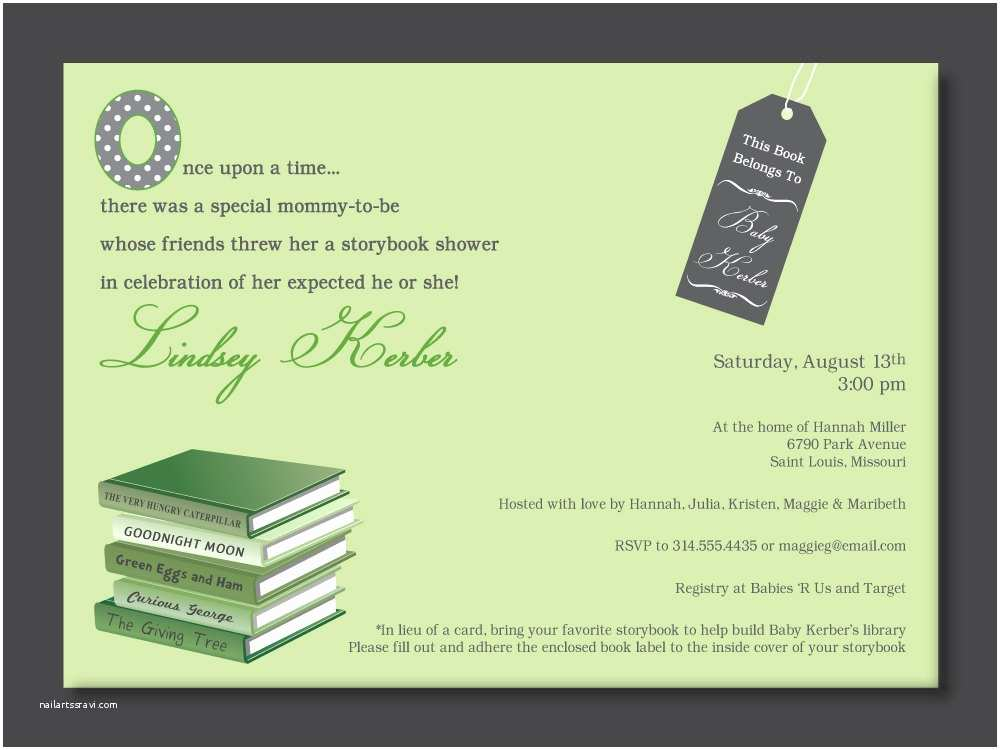 Storybook Baby Shower Invitations Chandeliers & Pendant Lights