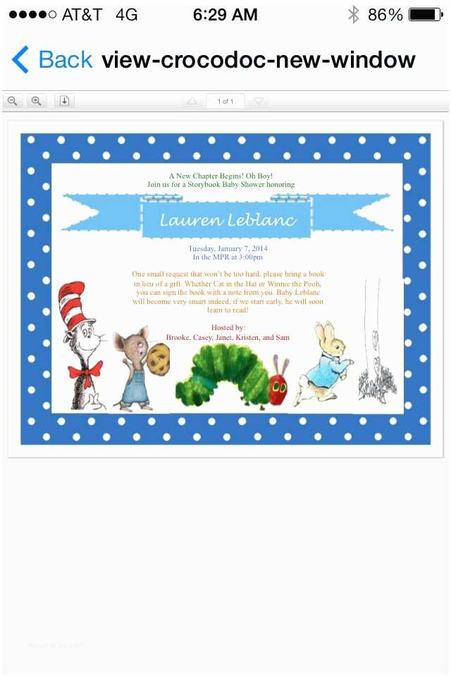 Storybook Baby Shower Invitations Storybook Baby Shower Invitation Baby Holder