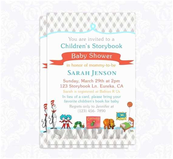 Storybook Baby Shower Invitations Storybook Baby Shower Invitation Book Baby by