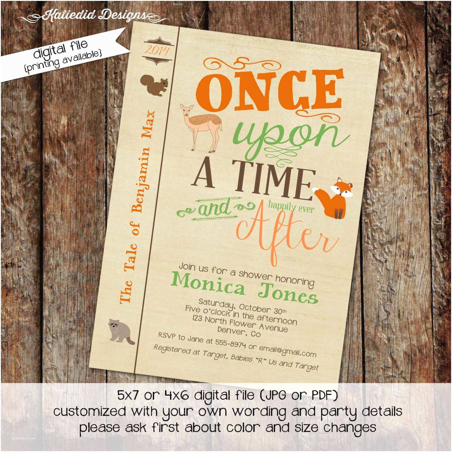 Storybook Baby Shower Invitations Storybook Baby Shower Invitation Boy Woodland by
