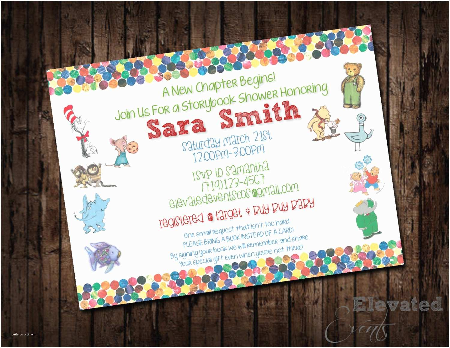 Storybook Baby Shower Invitations Storybook Baby Shower Invitation