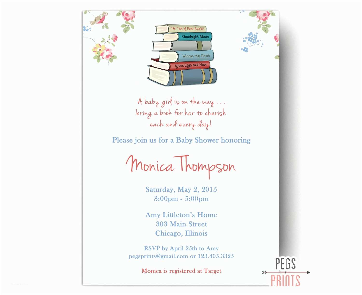 Storybook Baby Shower Invitations Storybook Baby Shower Invitation Printable Book by