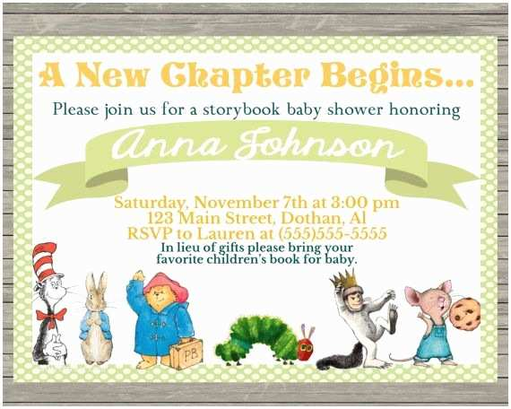 Storybook Baby Shower Invitations Storybook Baby Shower Invitation Thank You for Shopping