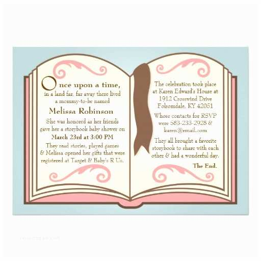 Storybook Baby Shower Invitations Storybook Baby Shower Invitations