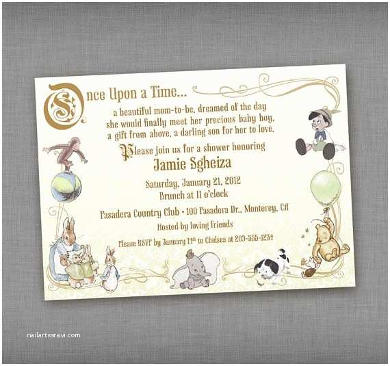 Storybook Baby Shower Invitations Vintage Storybook Baby Shower Printable Invitation