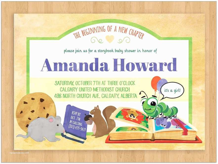 Storybook themed Baby Shower Invitations 20 Storybook themed Baby Shower Invitations