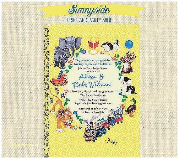 Storybook themed Baby Shower Invitations Baby Shower Invitation Elegant Storybook themed Baby