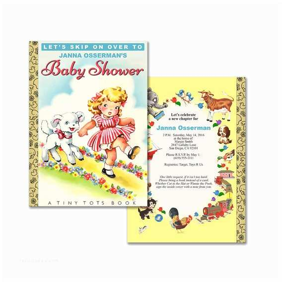 Storybook themed Baby Shower Invitations Storybook Baby Shower Invitation Diy Printable